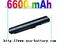 9-cell 6600mah Laptop for Acer ASPIRE ONE battery(black)