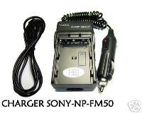 Battery Charger for Sony NP-FM50